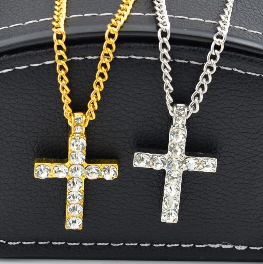 Cross Iced Out Necklace - wave-cheque