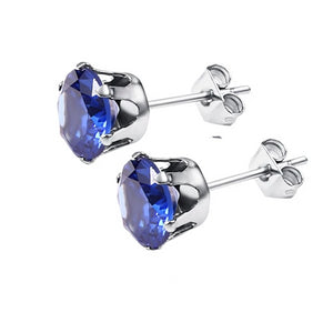 Crystal Stud Earrings - wave-cheque