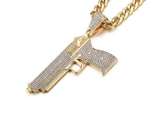 Glock Iced Out Necklace - wave-cheque