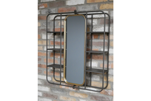 Load image into Gallery viewer, Mirrors - Metal - Wall Unit With Mirror