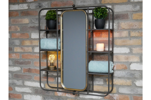 Mirrors - Metal - Wall Unit With Mirror