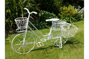 White Lottie Bike With Baskets