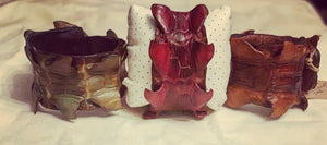 Hornback Crocodile Cuffs