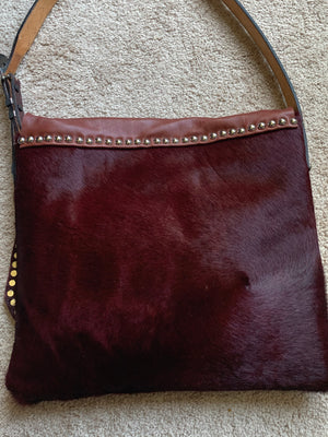 Brown/Orange Cowboy Boot Bag