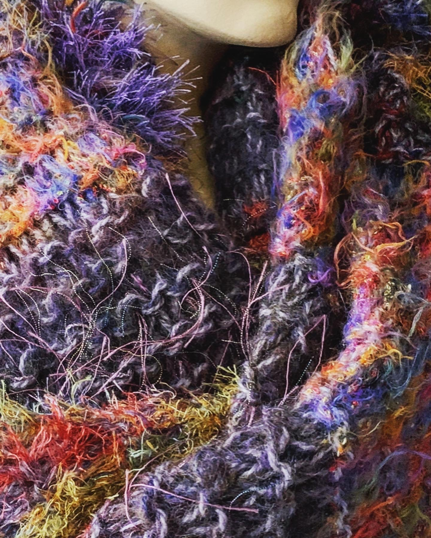 Hand knitted wrap scarves