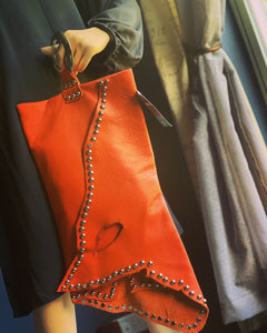 Oversized Orange Wristlet/Clutch