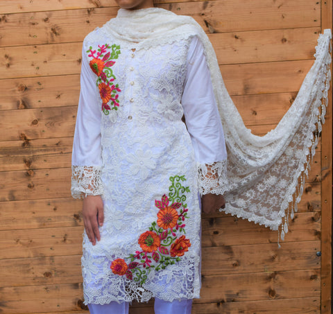 Vintage Net Lace Kurta / Dress