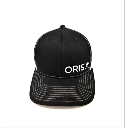 ORIS 6 panel trucker hat Black/White