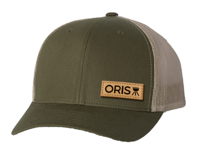ORIS leather patch moss/khaki hat
