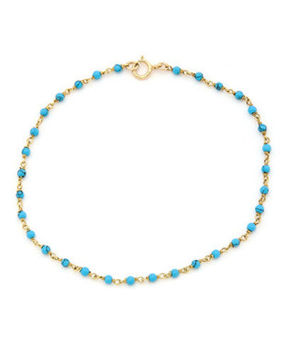 14K Gold Filled Turquoise Beaded Choker