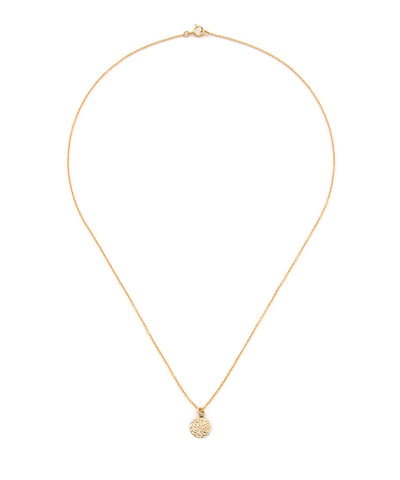 14k Gold Filled Baby Hammered Circle  Necklace