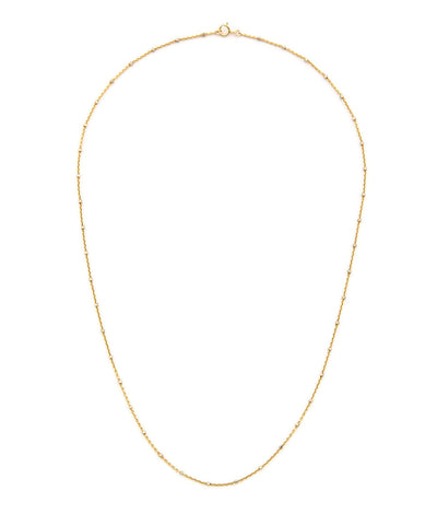 14K Gold Filled Mixed Metal Beaded Necklace
