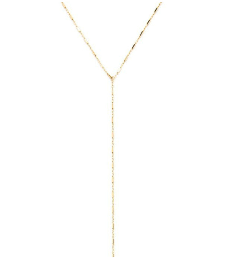 14K Gold Filled Bar Drop Down Necklace