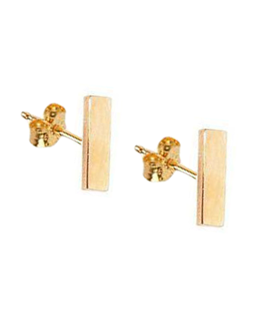 Large Solid 14k Gold Bar Studs