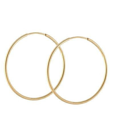 Endless Gold Hoop Earrings