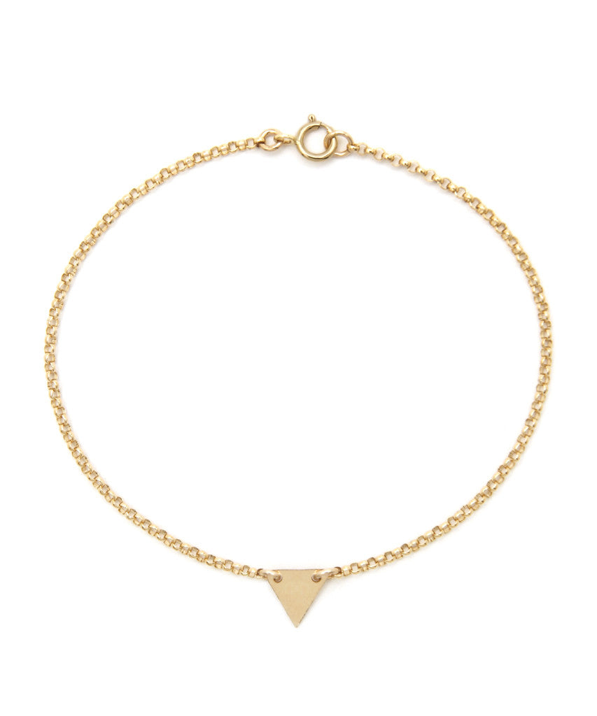 14K Gold Filled Triangle Bracelet