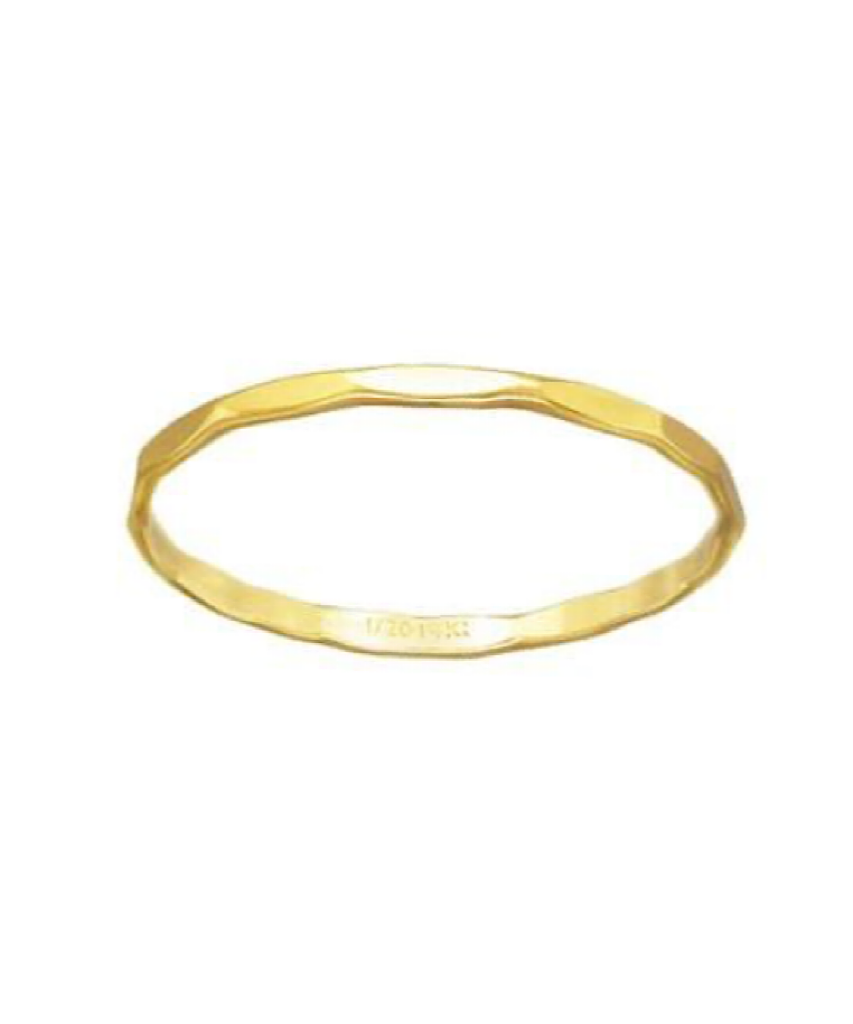 14K Gold Filled or Sterling Silver Hammered Bands