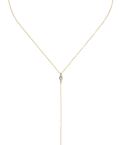 14K Gold Filled Swarovski Crystal Lariat