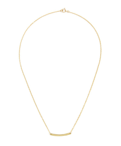 Tiny Curved Bar Necklace