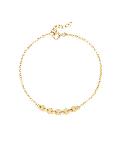 14k Gold Filled Disk Bracelet