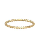 Solid 14K Gold Beaded Stack Ring
