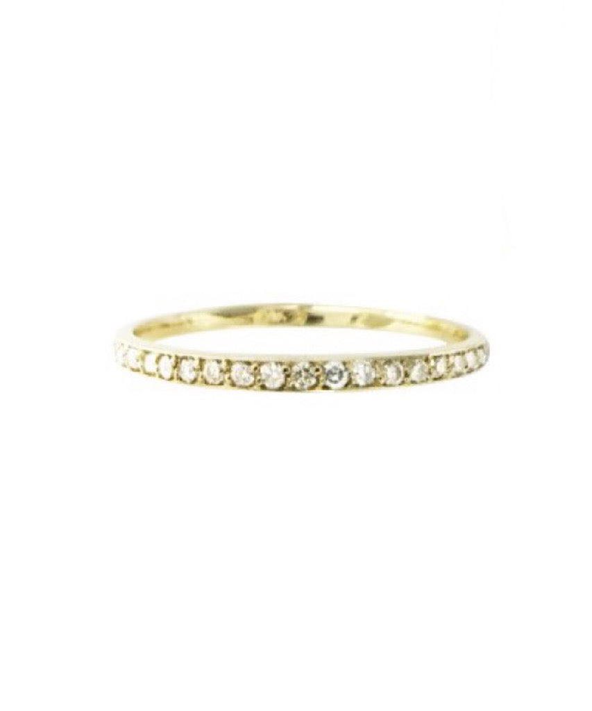Solid 14K Gold Genuine Diamond Ring