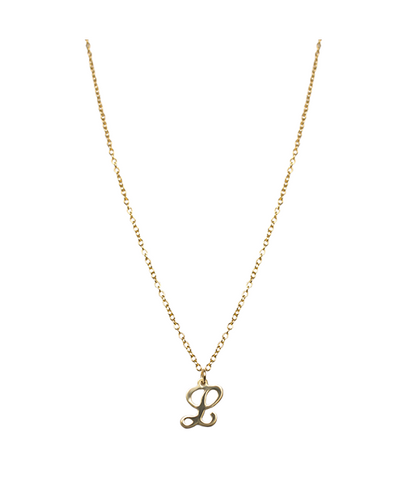 14K Gold Filled Script Initial Necklace