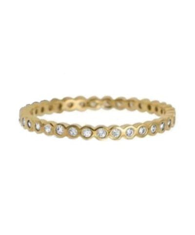 Sterling Silver or Gold Plated Baby Circle Infinity Stacker