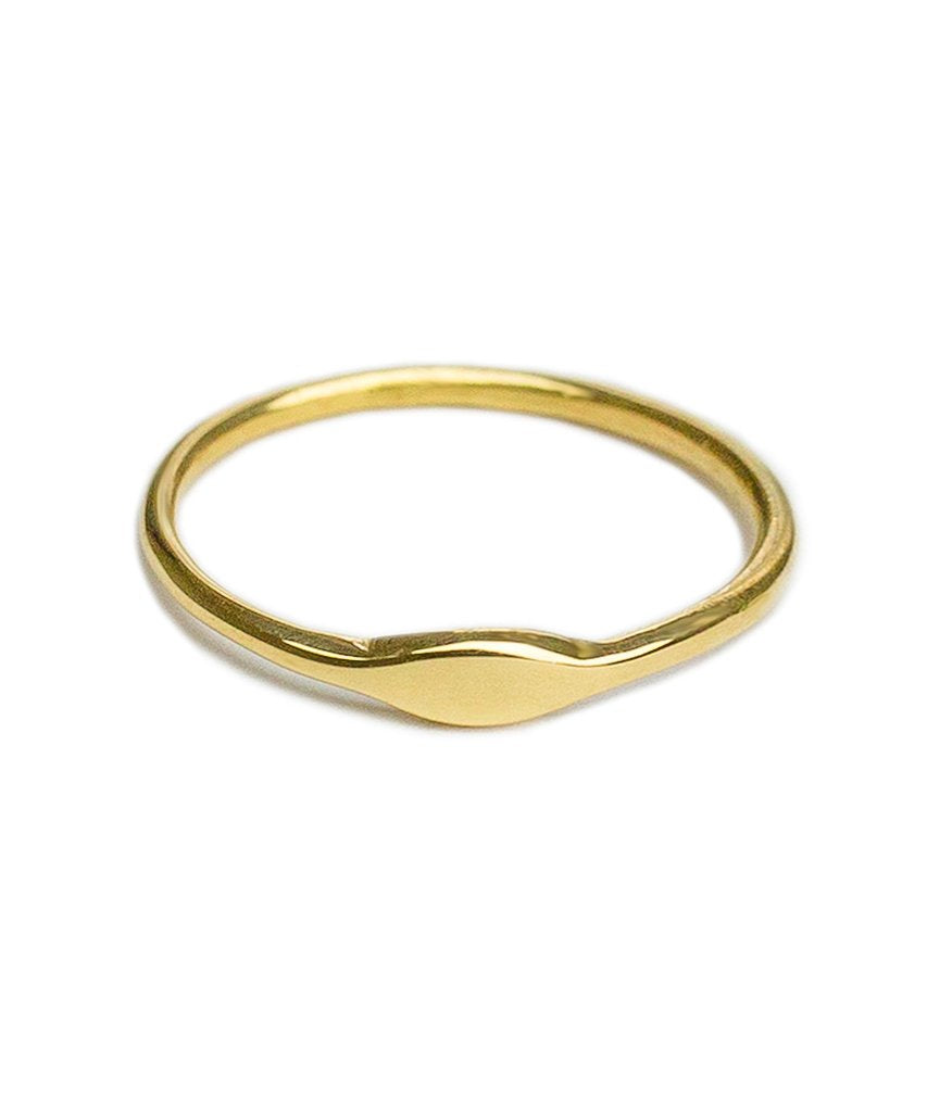 Baby Solid 14K Gold Pinky Ring