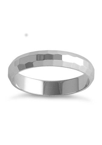 Men's Hammered Sterling Silver Ring