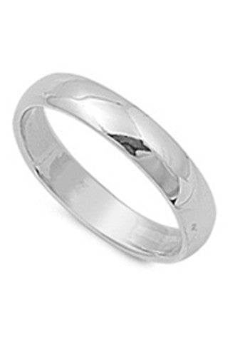Men's Simple Silver Ring (Great for Low Cost Wedding Band!)