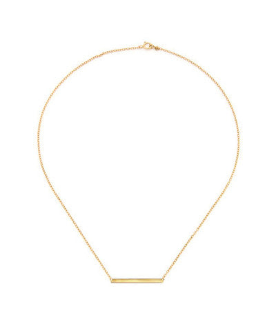 14K Gold Filled or Sterling Simple Bar Necklace