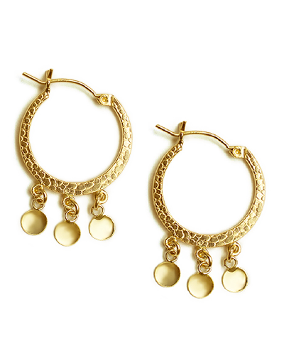 Tribal Shaker Disk Hoops