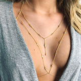 Crystal Bra Chain With Lariat