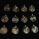 Long Constellation Crystal Horoscope Necklace