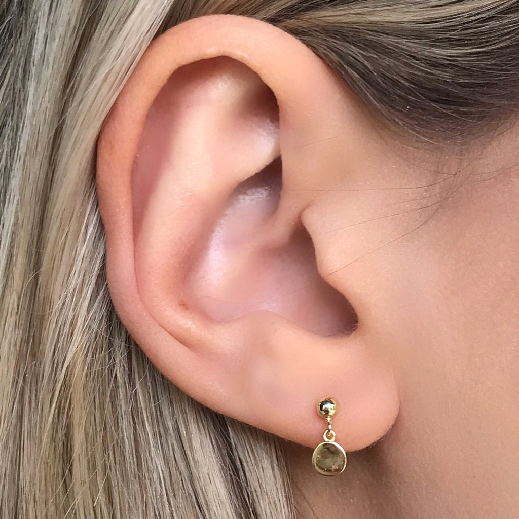 Shaker Disk Stud Earrings