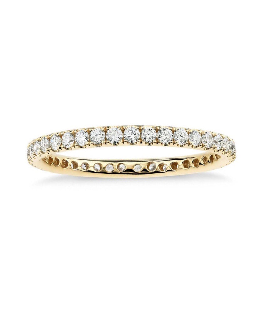Solid 14K Gold Eternity Band