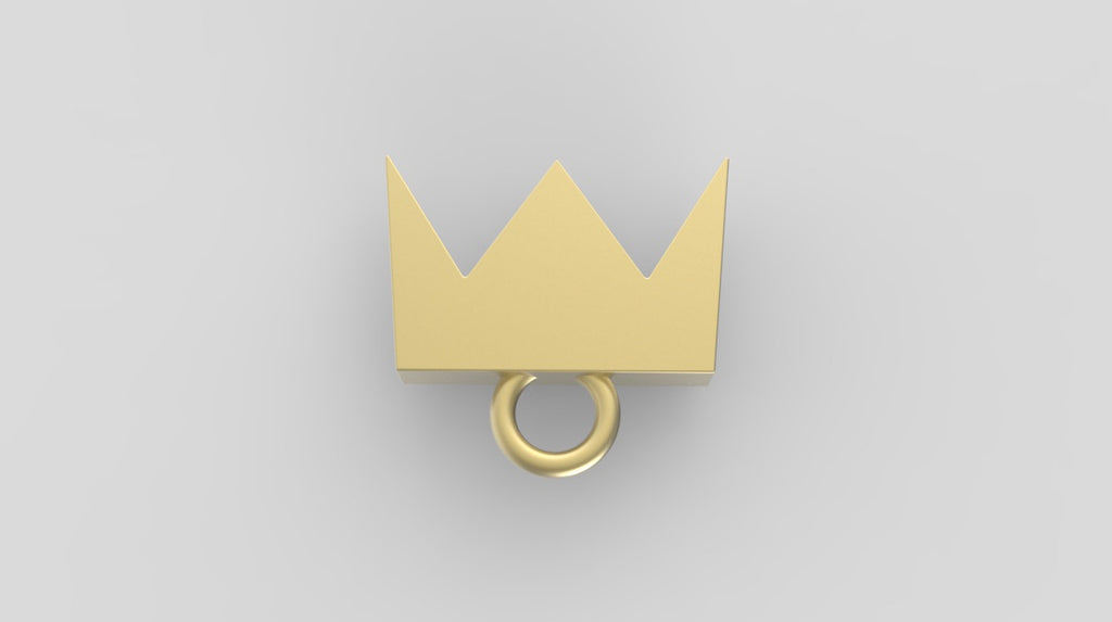 Solid 14k gold Crown Charms