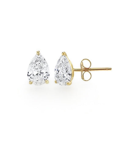 Solid 14K Gold Leona Stud Earrings