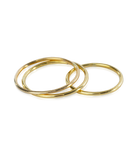 Triple Stack 14K Gold Filled or Sterling Silver Smooth Round Bands