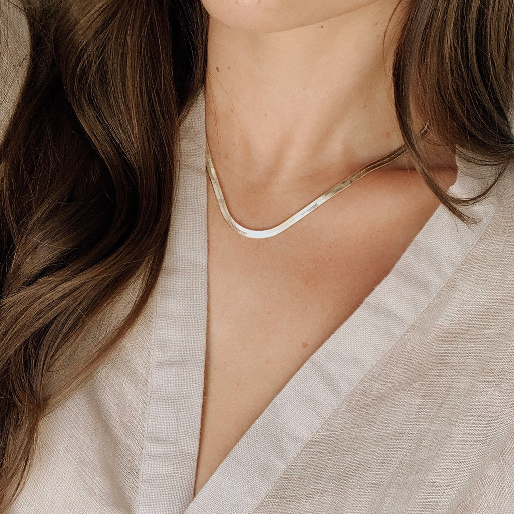 Serena Herringbone Necklace