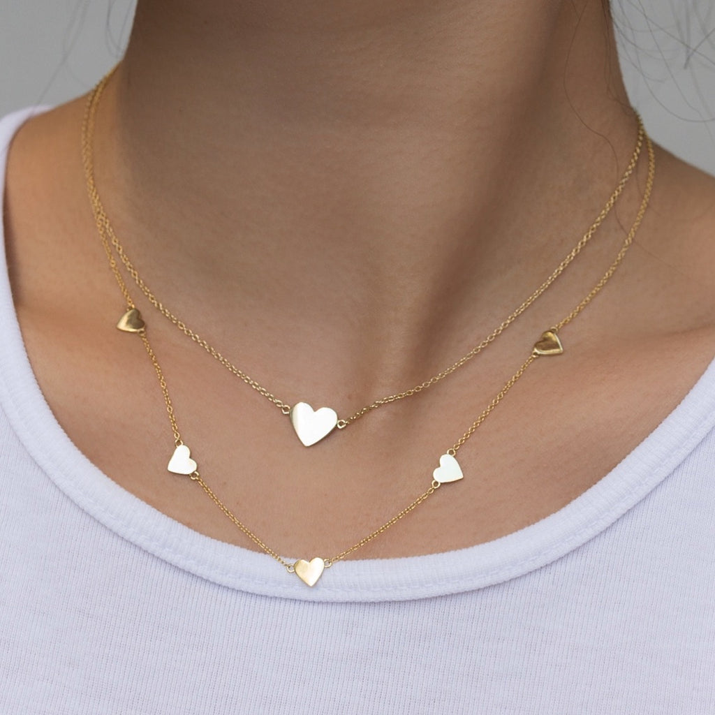 Five Heart Love Necklace
