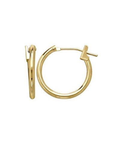 Solid 14K Gold Mini Huggie Hoop