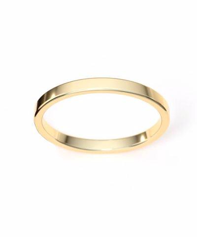 14K Gold Filled Flat Stack Band