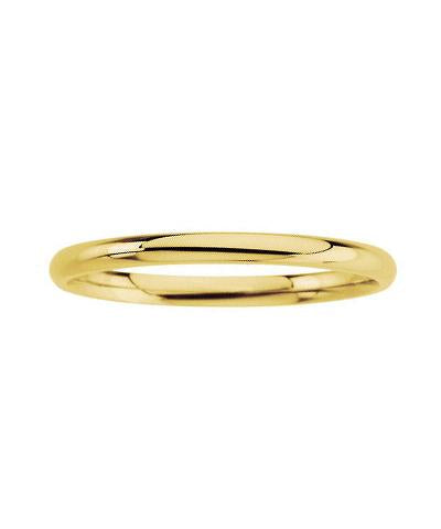 Solid 14K Gold Smooth Stack Band