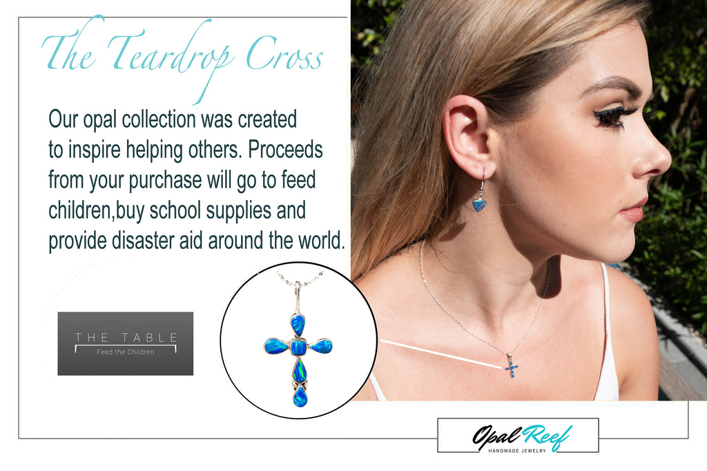 cross crosses Christian Jewelry Catholic Christ necklace opal Caribbean Blue teardrop Walmart charity free shipping chain Plated Round Created Opal Necklaces for Women Genuine Necklace Beautiful pendant Birthstone Jewelry Pendant Dainty Perfect Gift Tiny