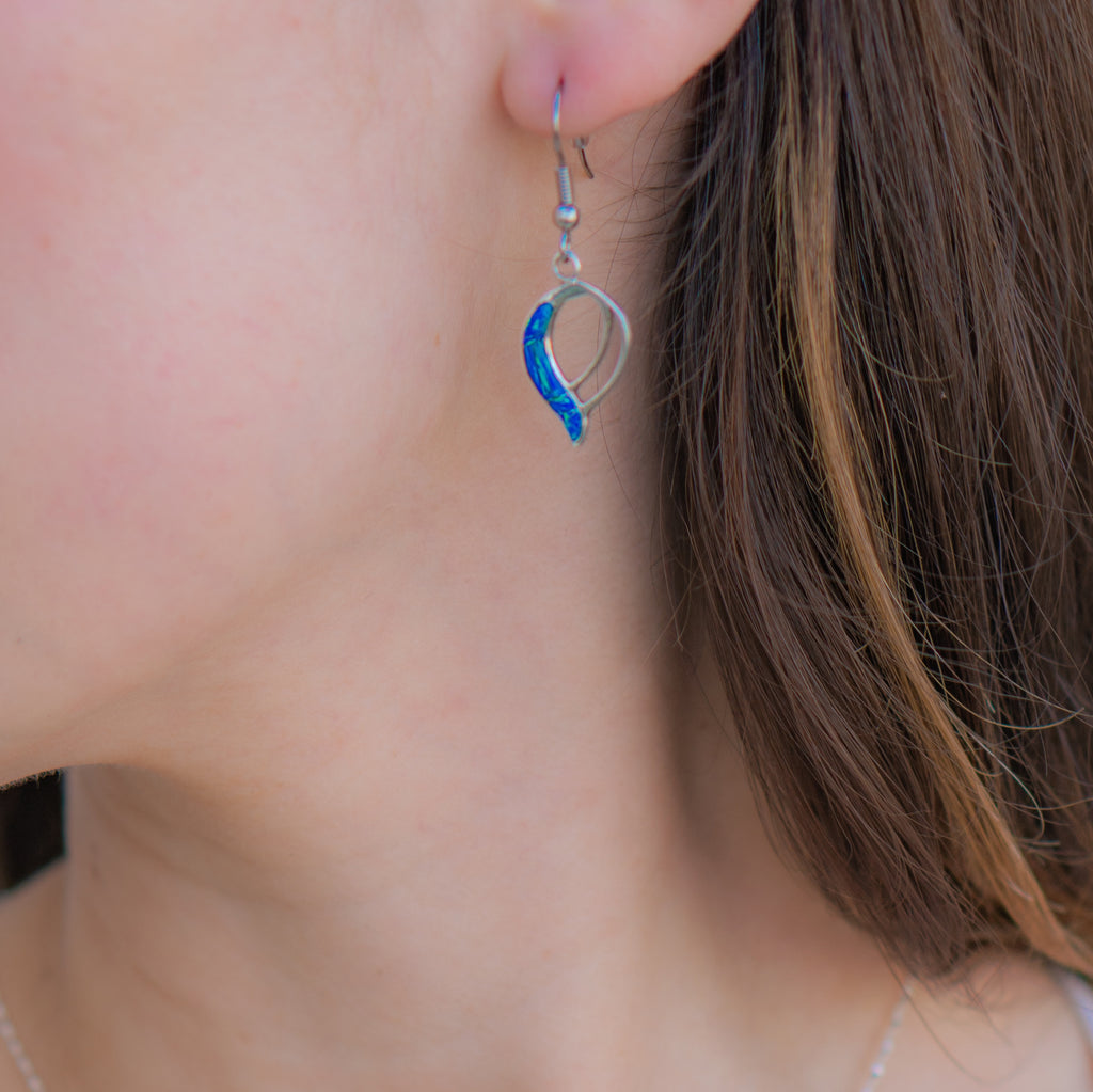 702SET - Caribbean Blue Opal Pendant and Earrings Set