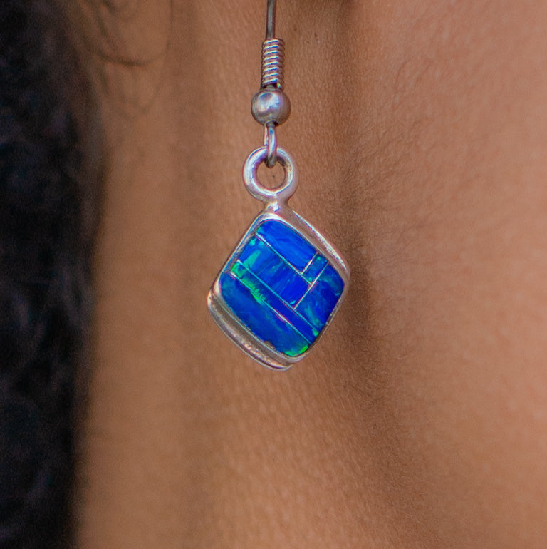 707ER - BLUE OPAL EARRINGS