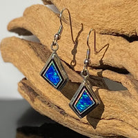 280ER - BLUE AND WHITE OPAL EARRINGS