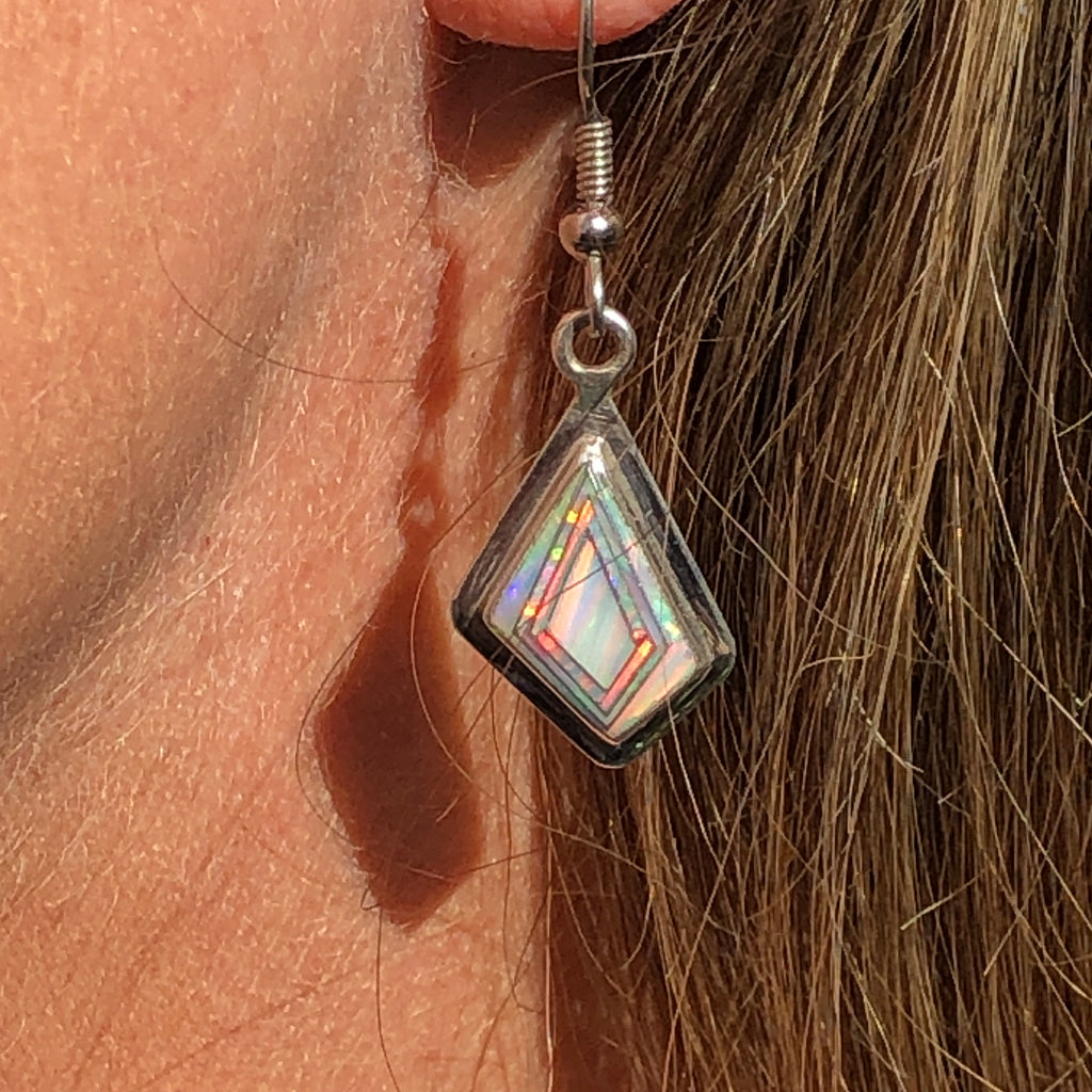 280ER White Opal Earrings